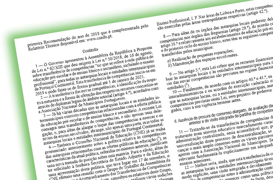 Transferência de Competências para Autarquias Locais - Avanço ou Encruzilhada?