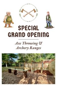 Archery   axe throwing grand opening ft calendar