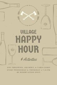 Copy of village happy hour