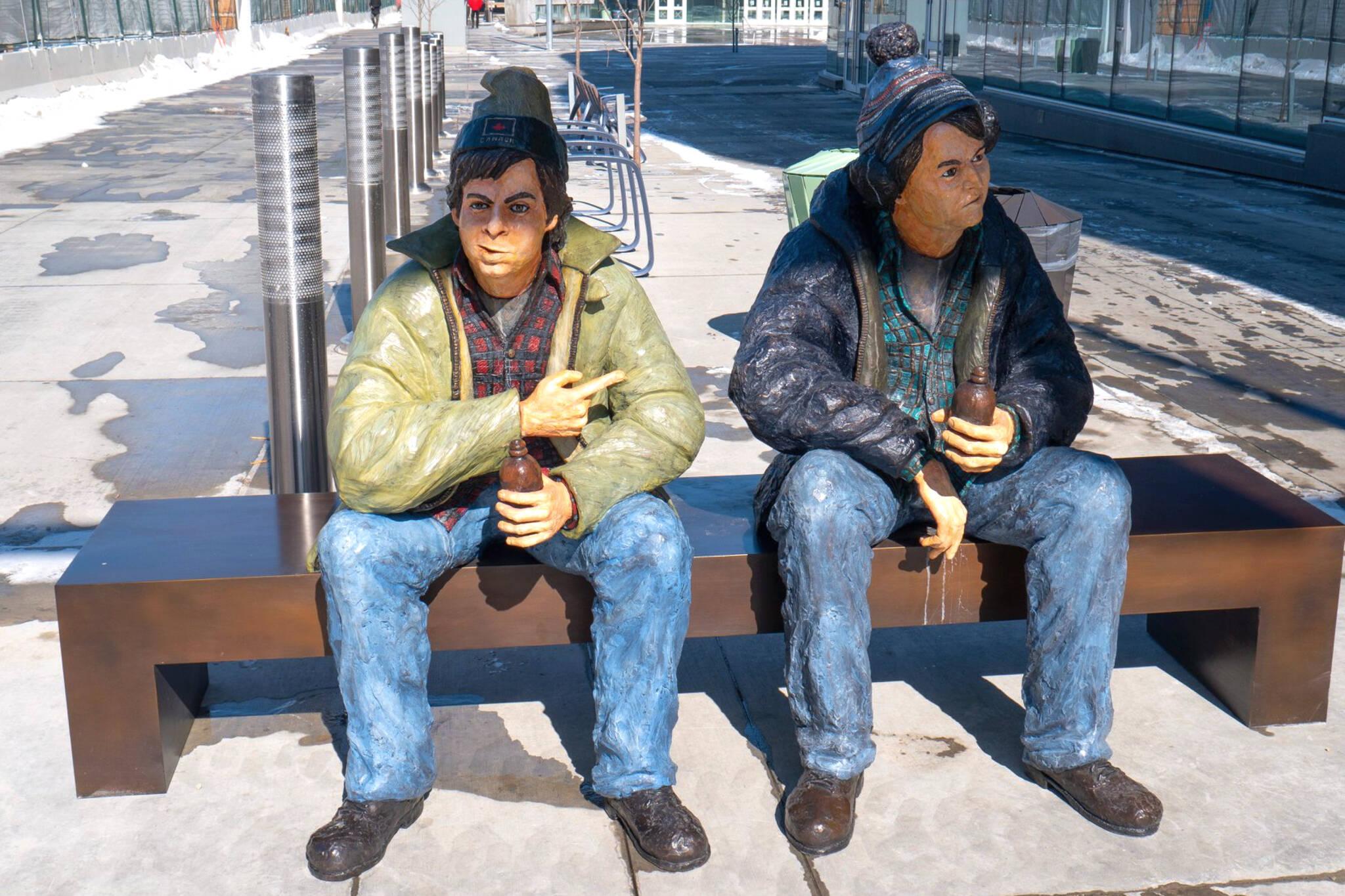 bob and doug mckenzie statue
