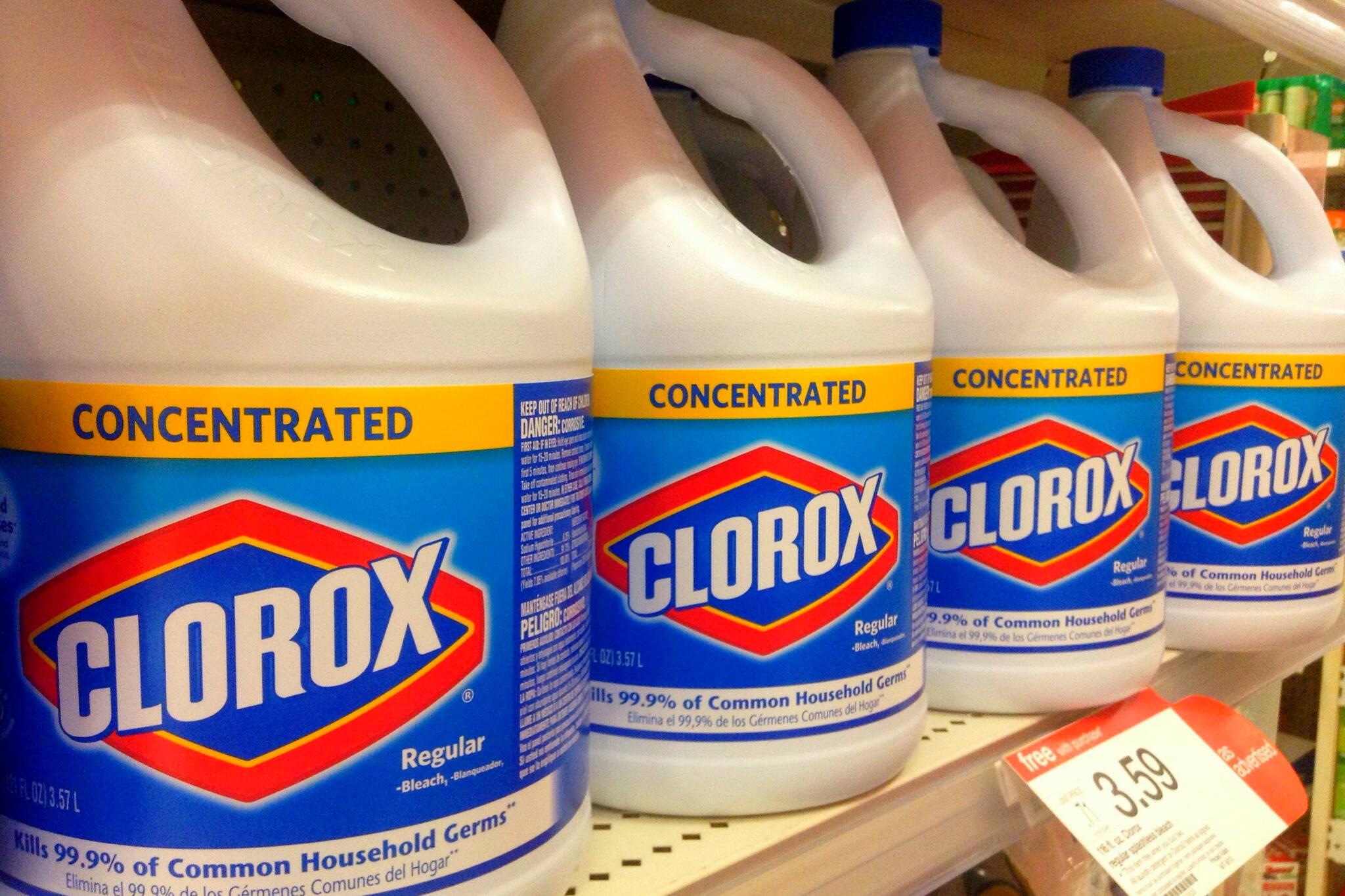 trump drink bleach