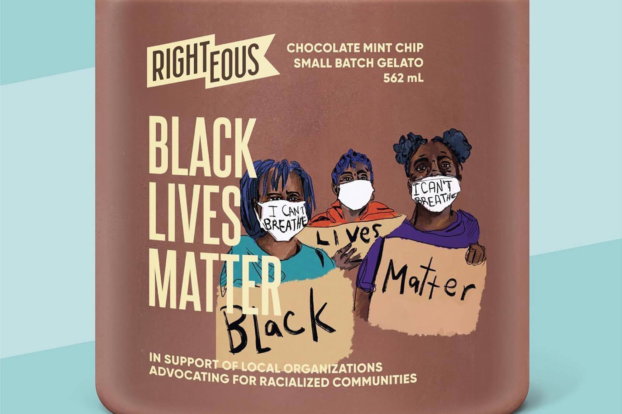 righteous gelato black lives matter