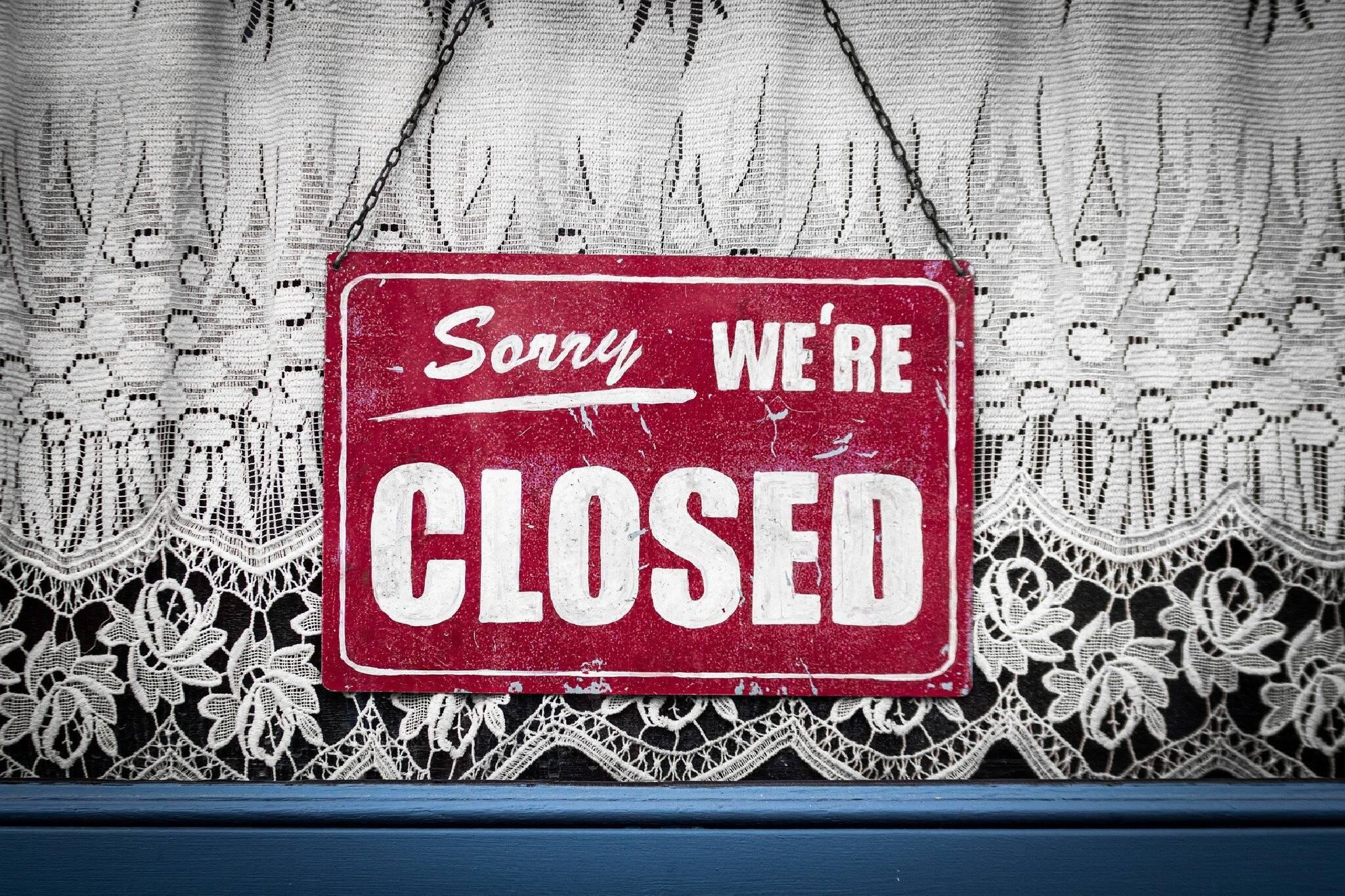 restaurant closures