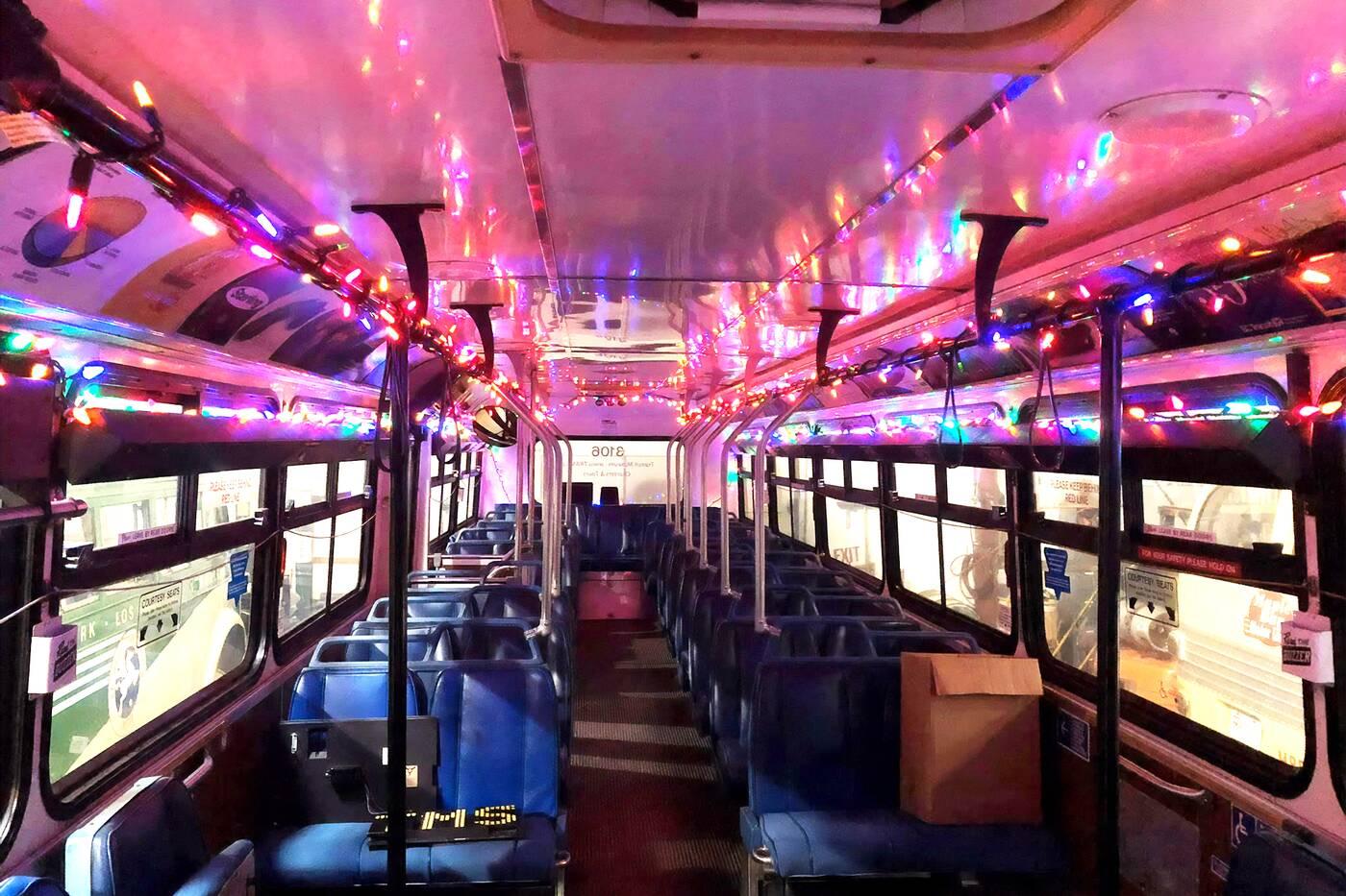 rudolph christmas bus