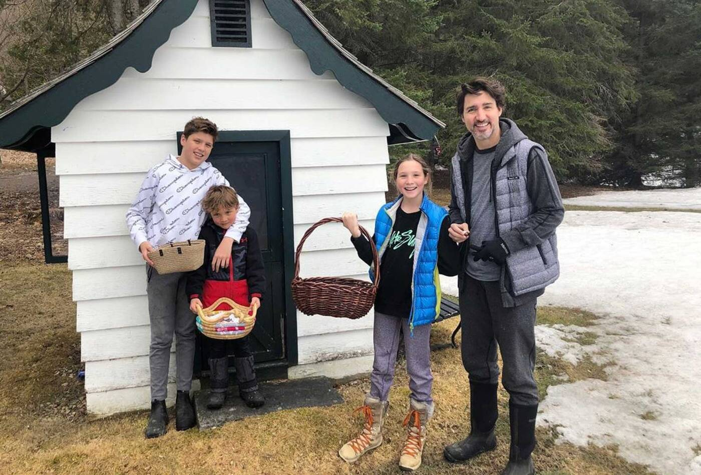 trudeau easter with family