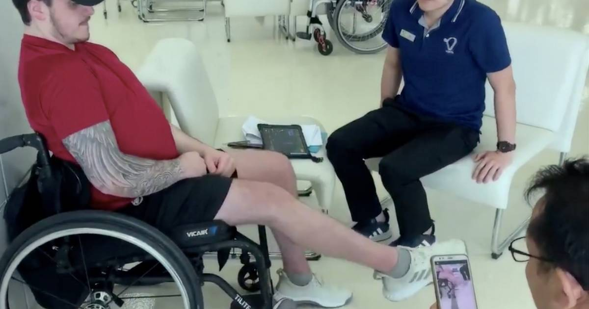 Paralyzed Humboldt player makes more progress after life changing spinal surgery