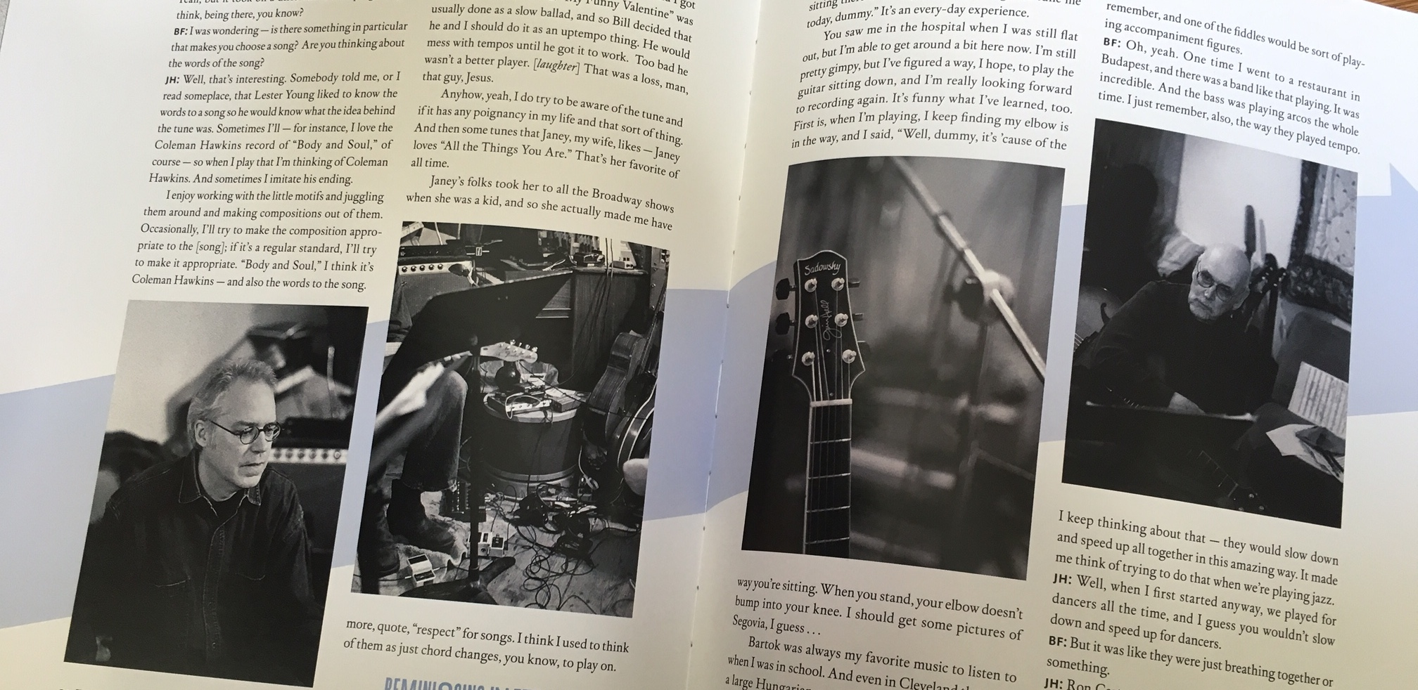 Extended Lesson Bill Frisell Interviews Jim Hall Fretboard Journal