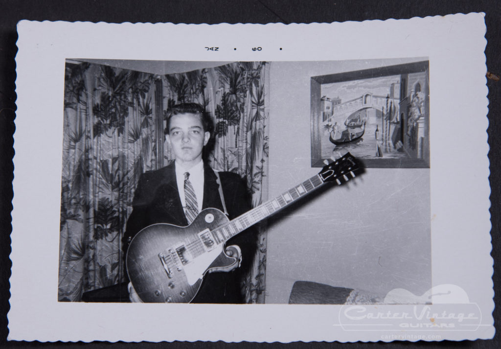 The Les Paul's original owner, photographed in 1960 with the guitar.