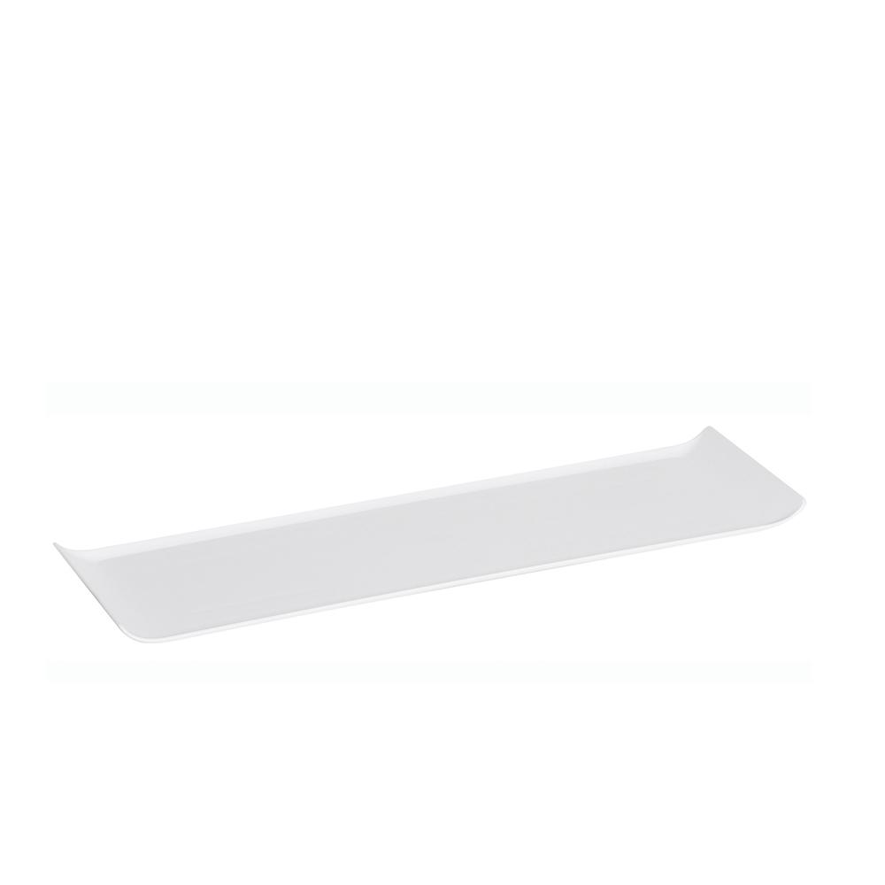 Bandeja 15x50 cm de Policarbonato Branca Vemplast