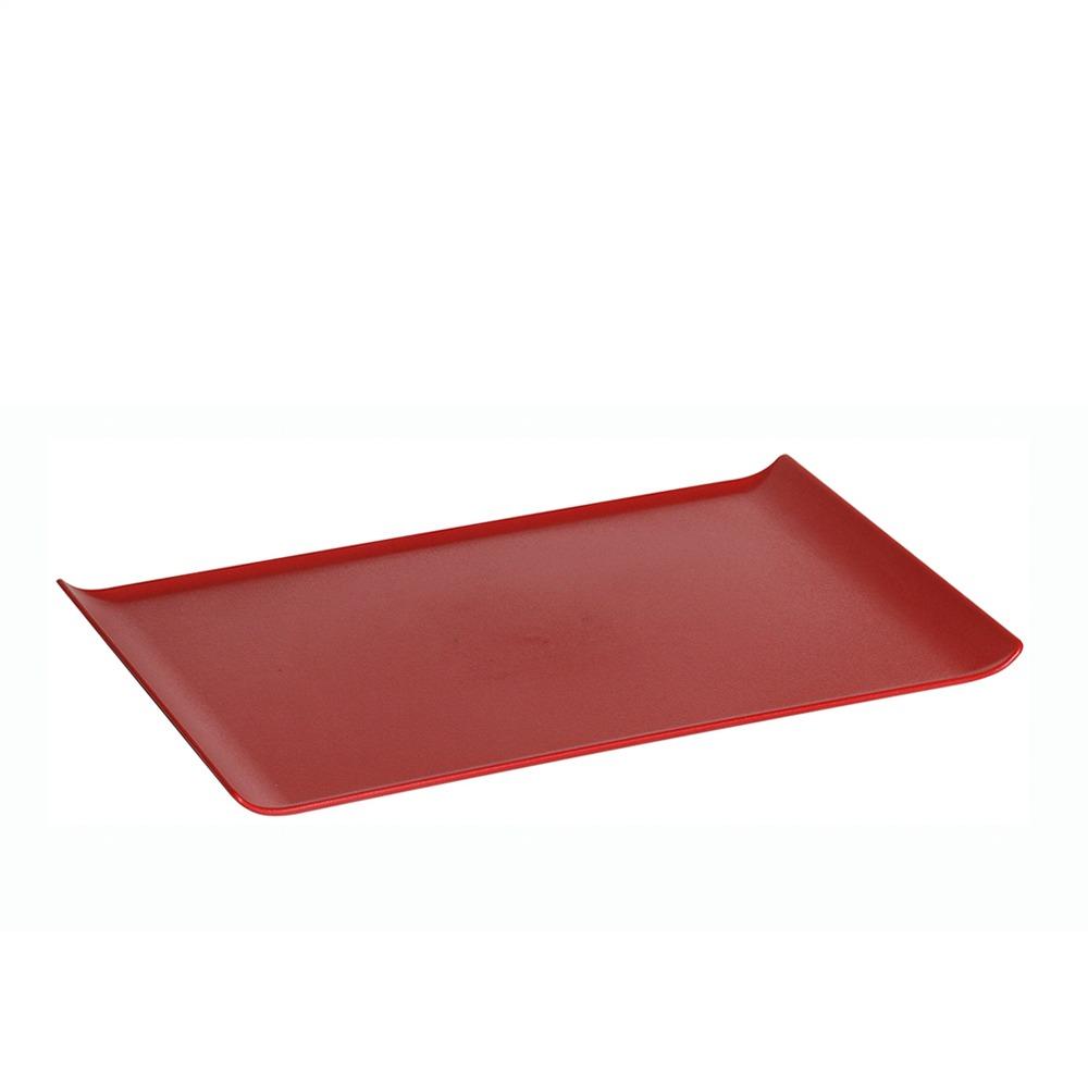 Bandeja 30x45 cm de Policarbonato Vermelha Vemplast