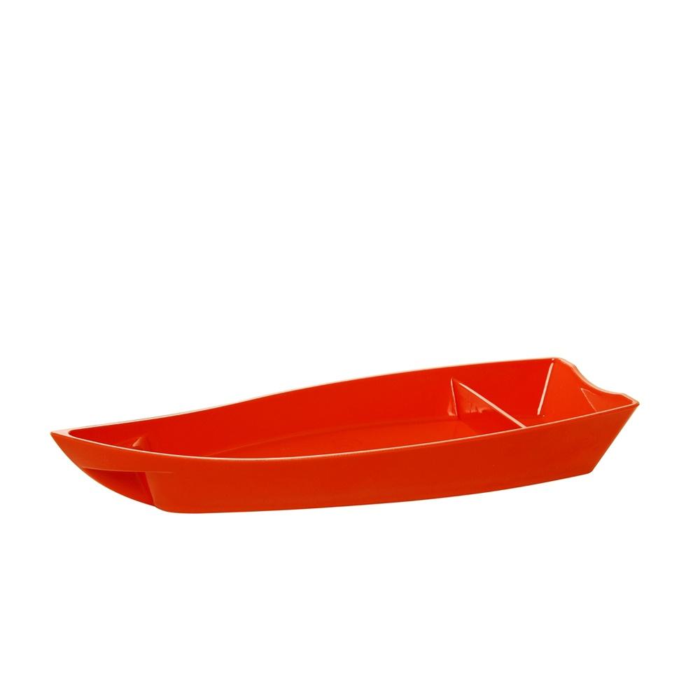 Barco para Sushi Grande de Policarbonato Laranja Vemplast