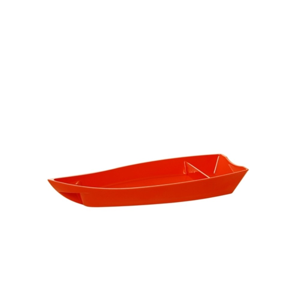 Barco para Sushi Medio de Policarbonato Laranja Vemplast