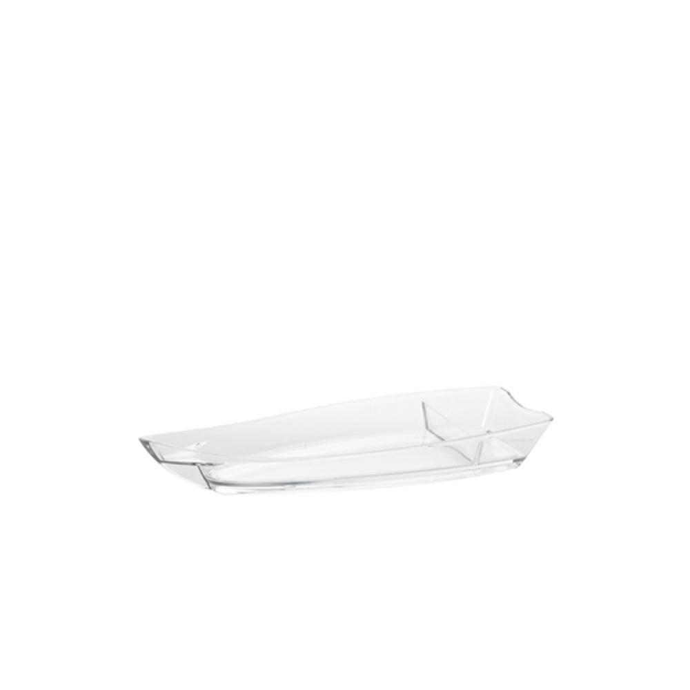 Barco para Sushi Pequeno de Policarbonato Natural Vemplast