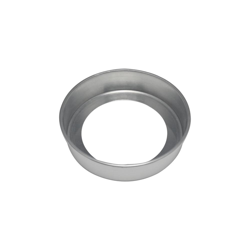 Forma de Bolo Redonda Fundo Falso de Aluminio Reta 20x5 cm Doupan