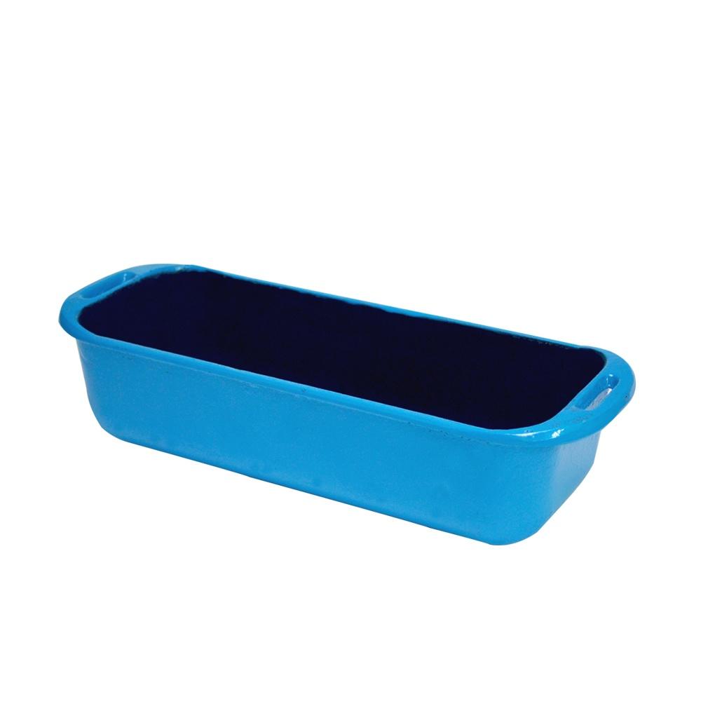 Forma Retangular de Ferro Fundido Chef Azul 29x12cm 4052 Fumil