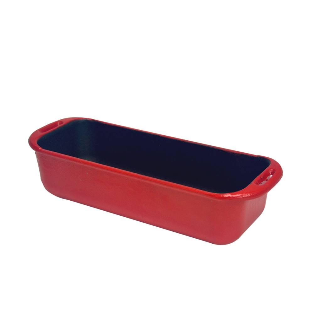 Forma Retangular de Ferro Fundido Chef Vermelho 29x12cm 4050 Fumil