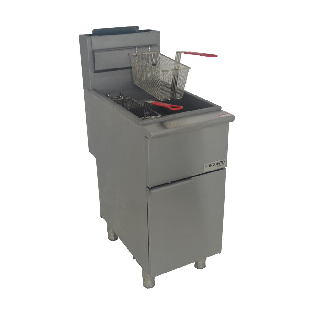 Fritadeira Industrial à Gás GN Inox com 2 Cestos CPF3NG FrigoPRO