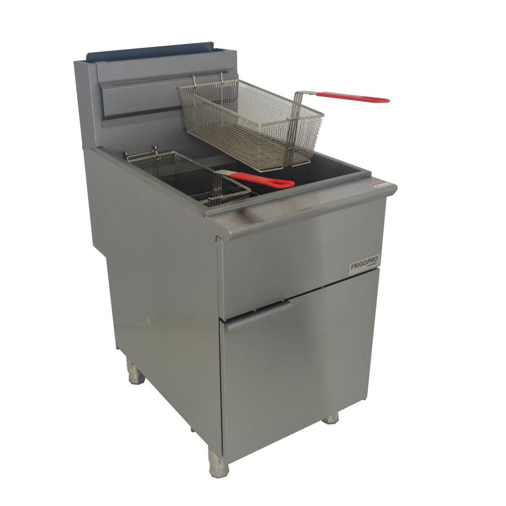 Fritadeira Industrial à Gás GN Inox com 2 Cestos F5NG FrigoPro