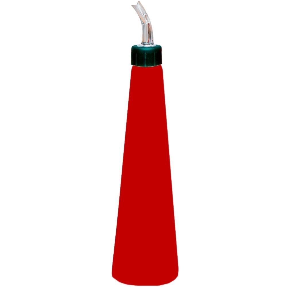 Galheteiro Cisne 500 ml Bico Plastico para Azeite de Policarbonato Vermelho Vemplast