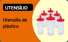 Utensílios de plástico