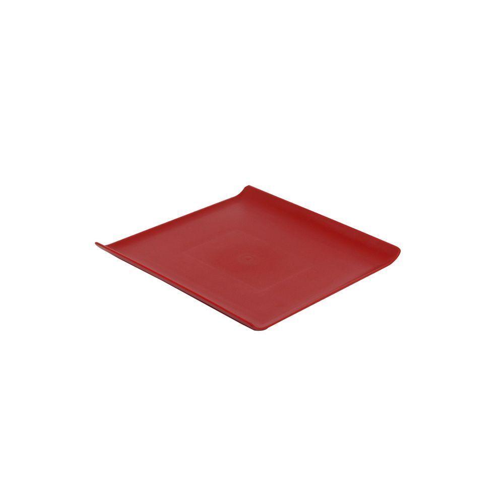Bandeja 30 x 30 cm Vermelha de Policarbonato Servir Vemplast