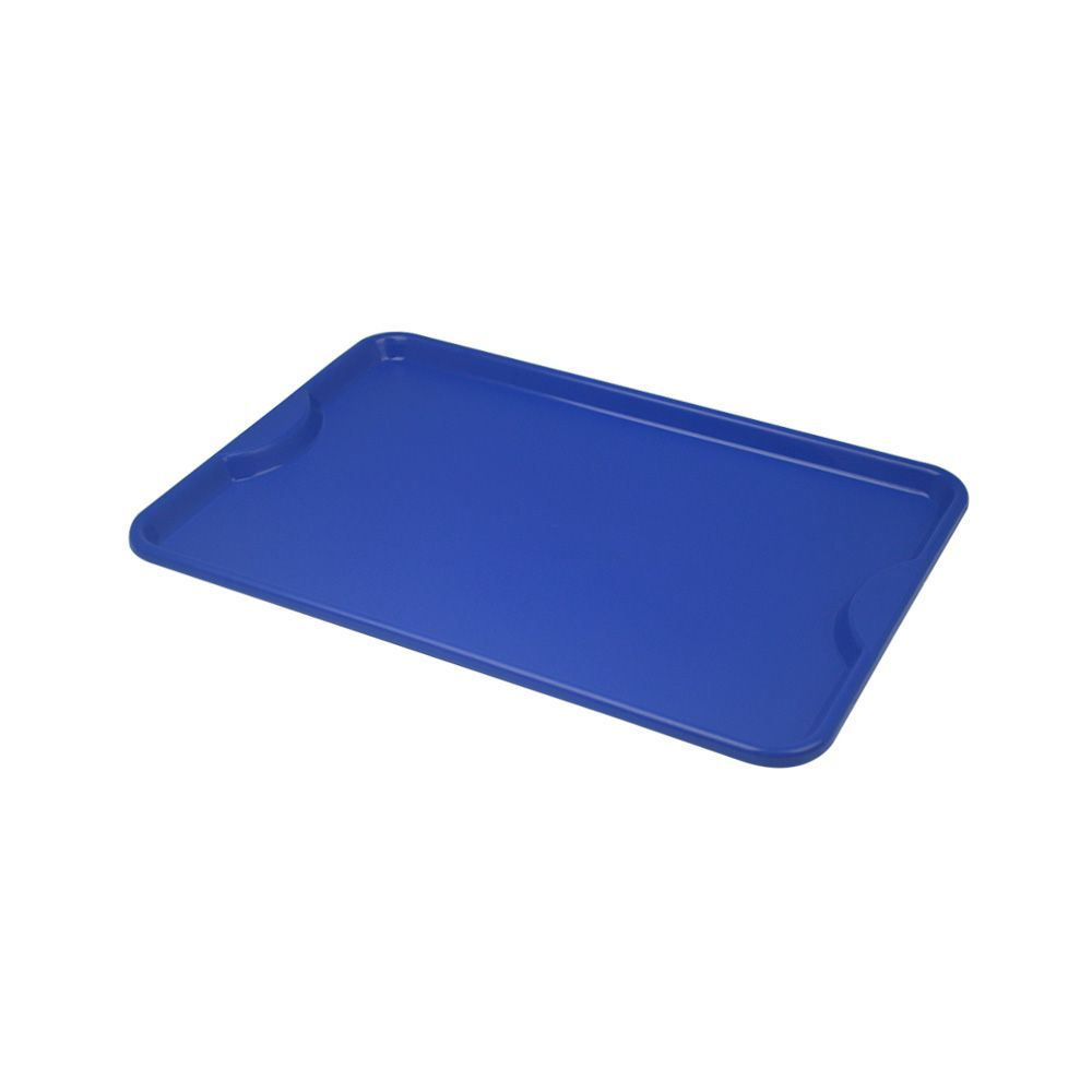 Bandeja Plástica Azul para Self-Service 48x33 cm S400 Kit 50 pçs Supercron