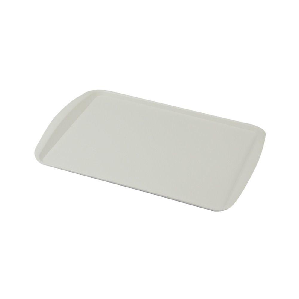 Bandeja Plástica Branca para Cafeteria e Doceria 34x23 cm S200 Kit 50 pçs  Supercron