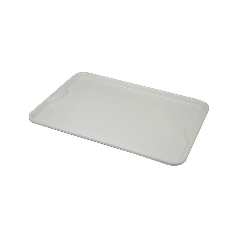 Bandeja Plástica Branca para Self-Service 48x33 cm S400 Kit 50pçs Supercron