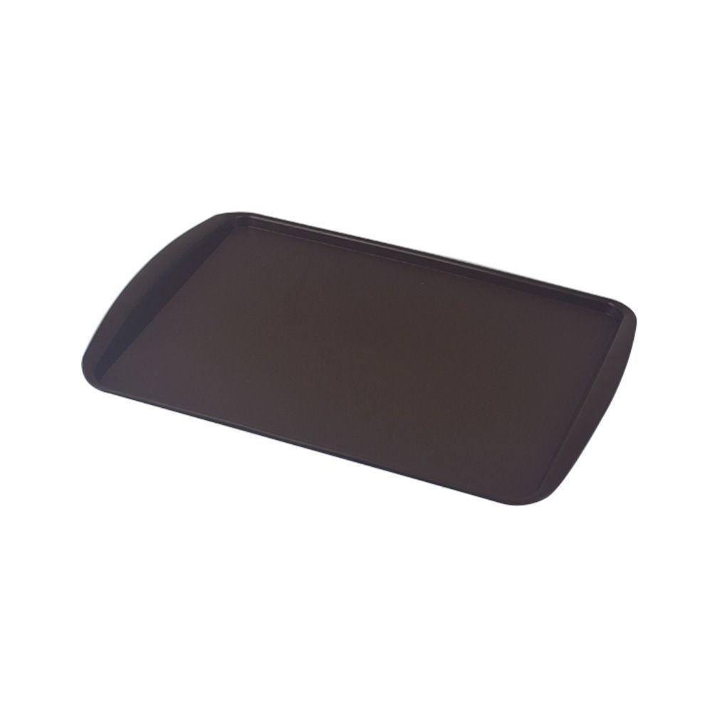 Bandeja Plástica Marrom para Cafeteria e Doceria 34x23 cm S200 Kit 10 pçs  Supercron