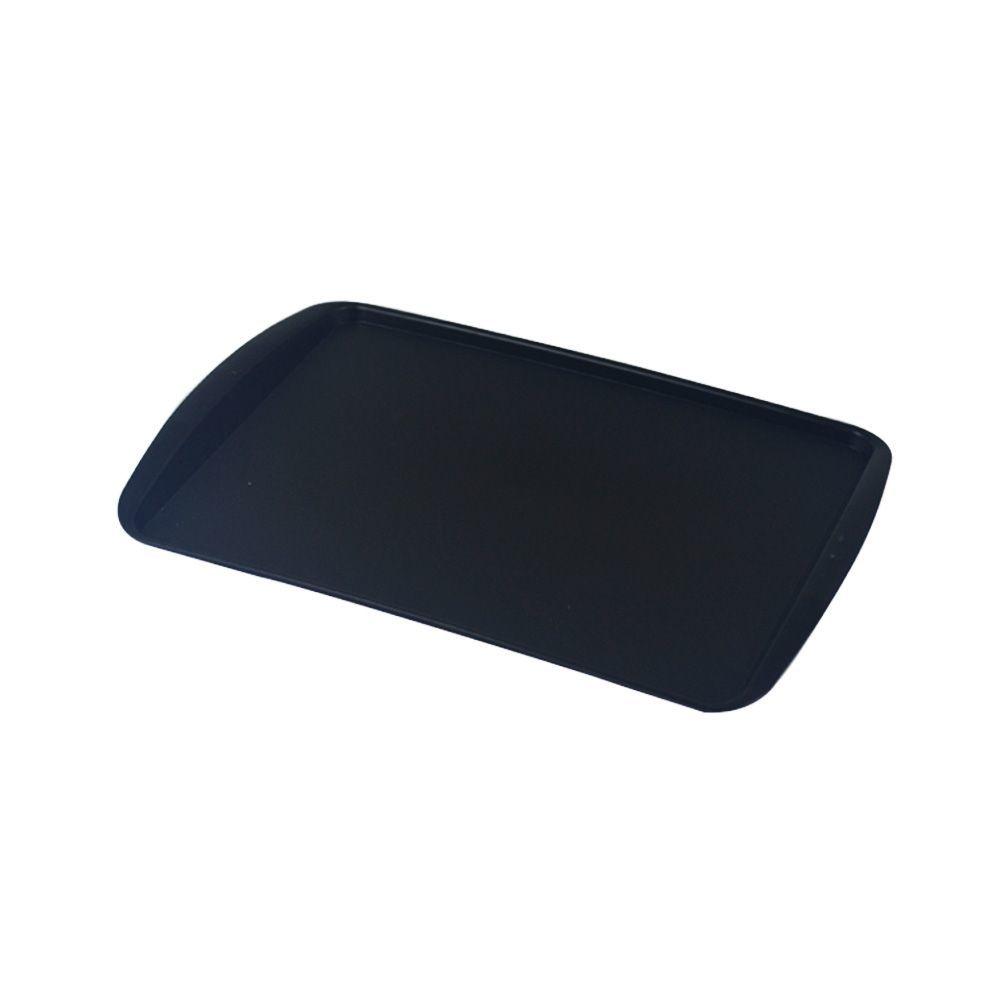 Bandeja Plástica Preta para Cafeteria e Doceria 34x23 cm S200 Kit 50 pçs  Supercron