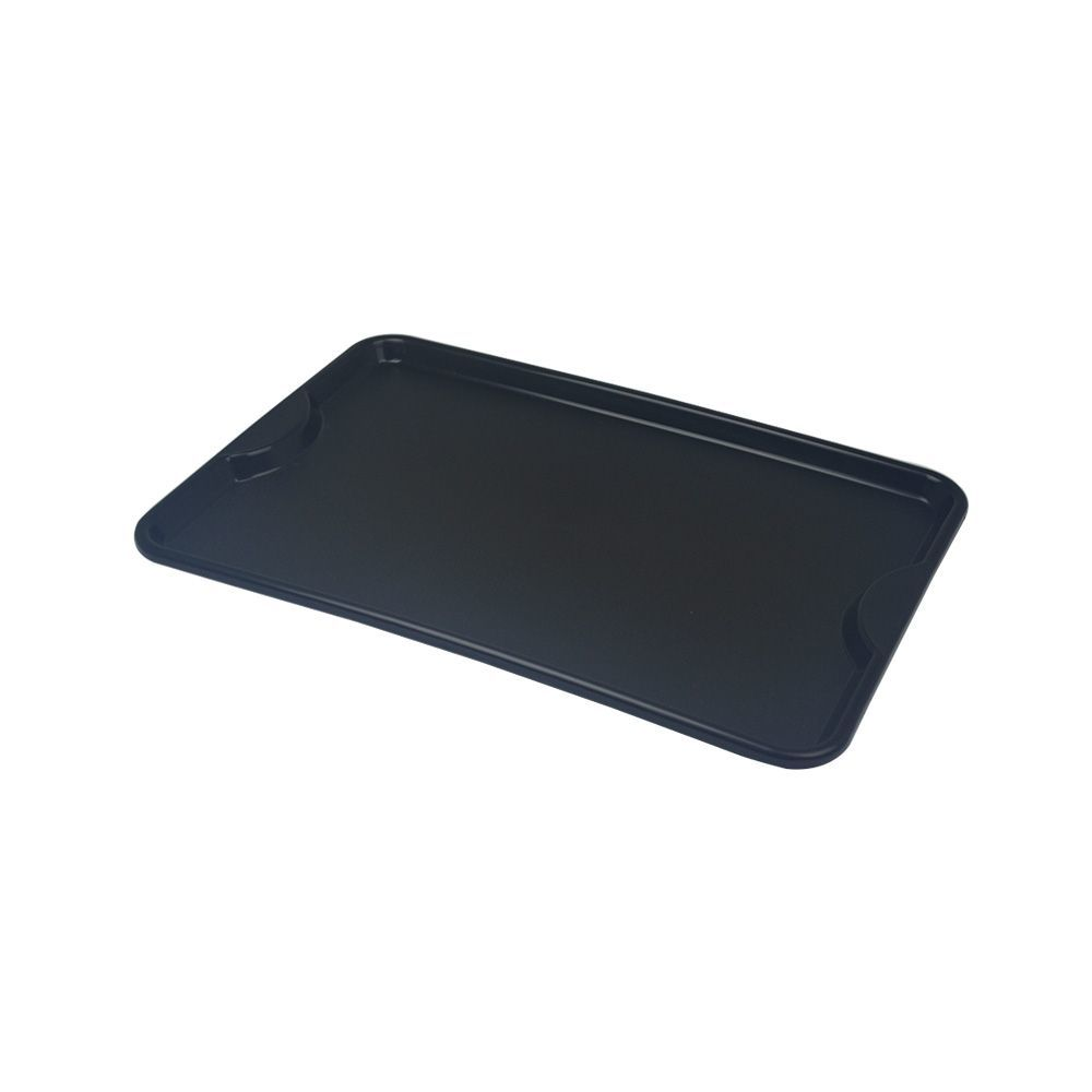 Bandeja Plástica Preta para Self-Service 48x33 cm S400 Kit 10 pçs  Supercron