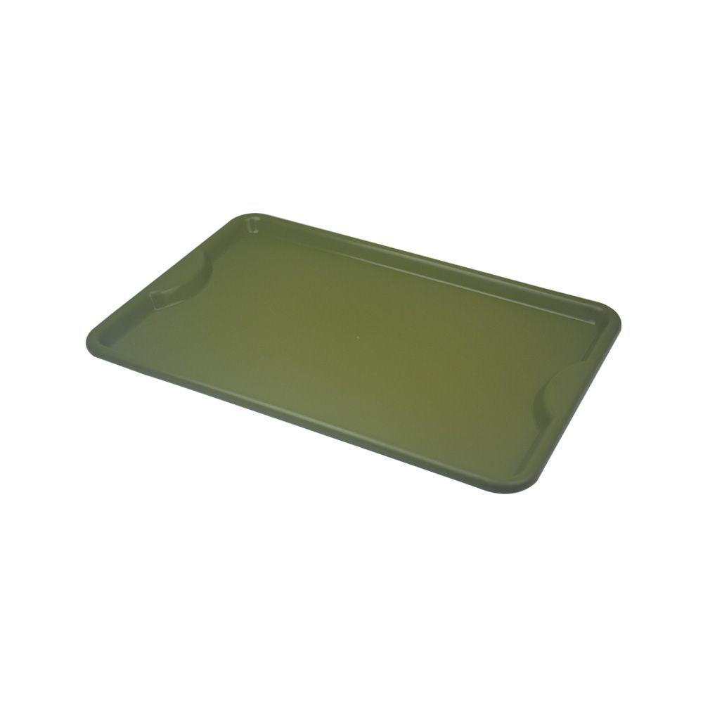 Bandeja Plástica Verde para Self-Service 48x33 cm S400 Kit 10 pçs Supercron