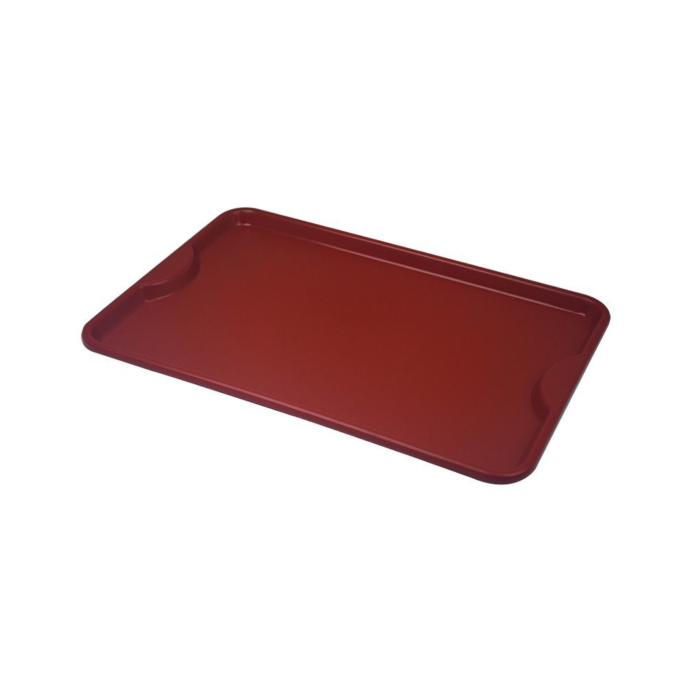 Bandeja Plástica Vermelha para Self-Service 48x33 cm S400 Kit 10 pçs