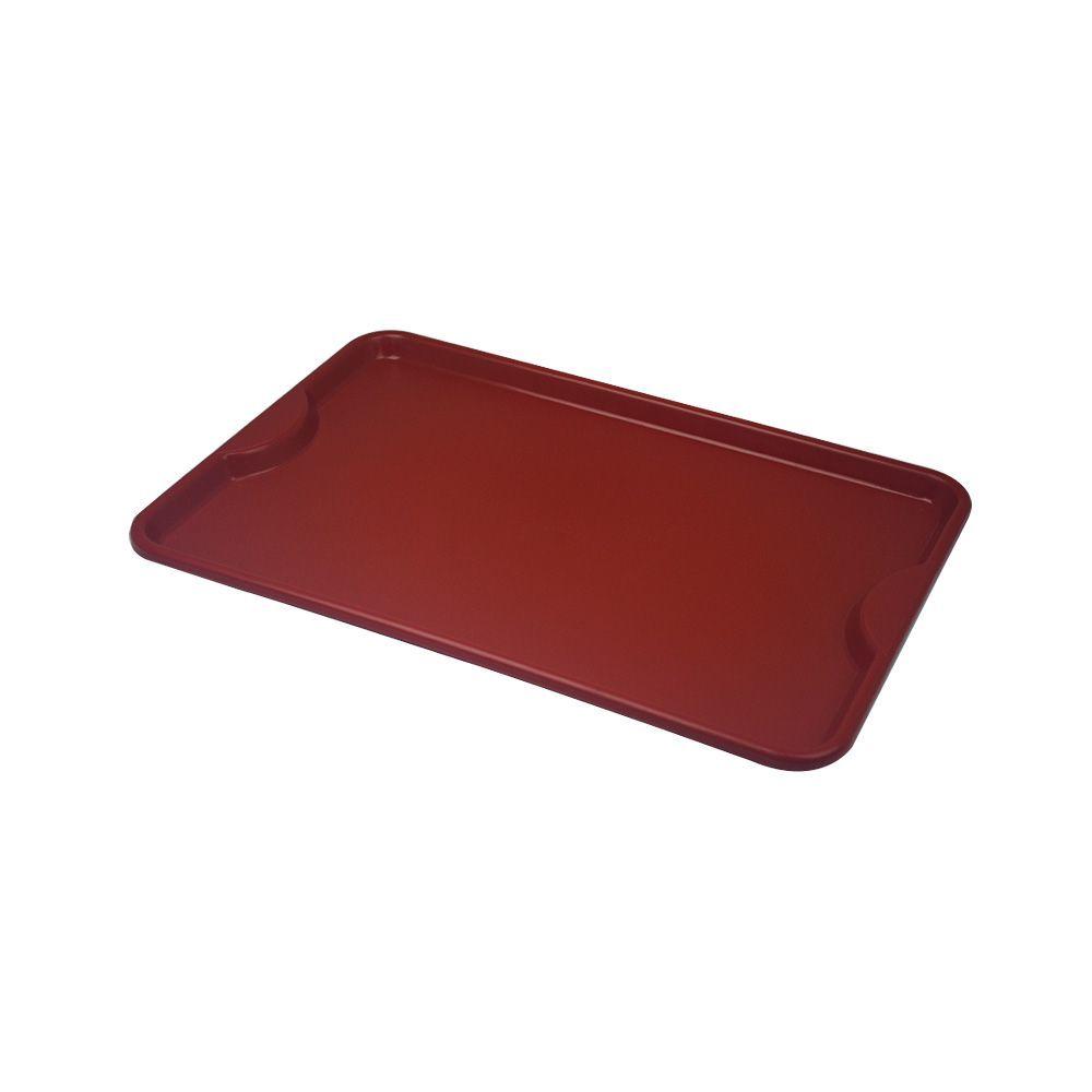 Bandeja Plástica Vermelha para Self-Service 48x33 cm S400 Kit 50pçs Supercron