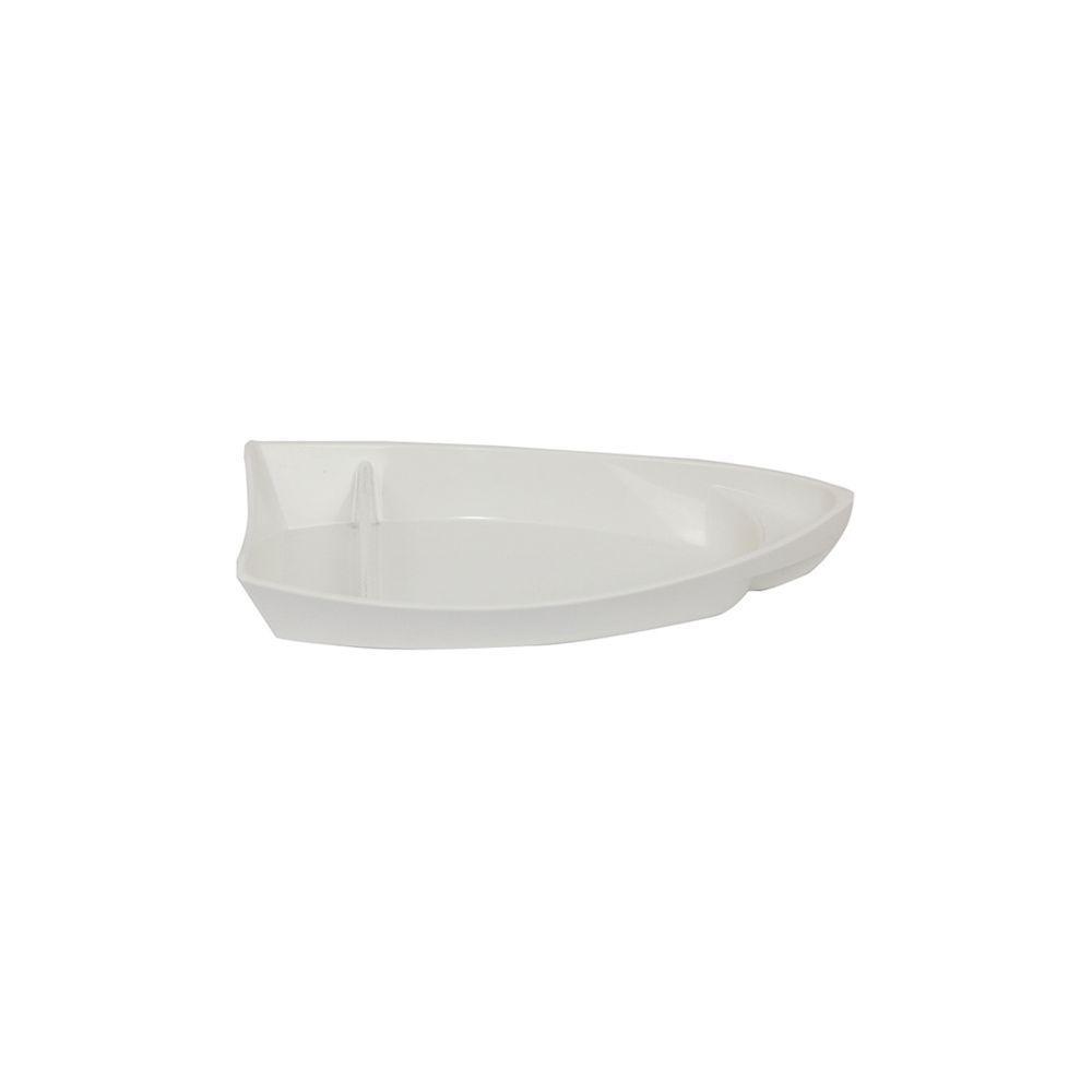 Barco para Sushi Branco Pequeno de Policarbonato Vemplast