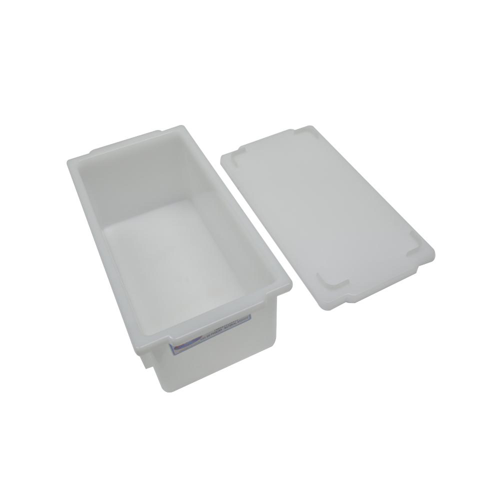 Caixa Plástica Branca Empilhável com Tampa 32X16X12 cm de 4,5 Litros S350  Supercron