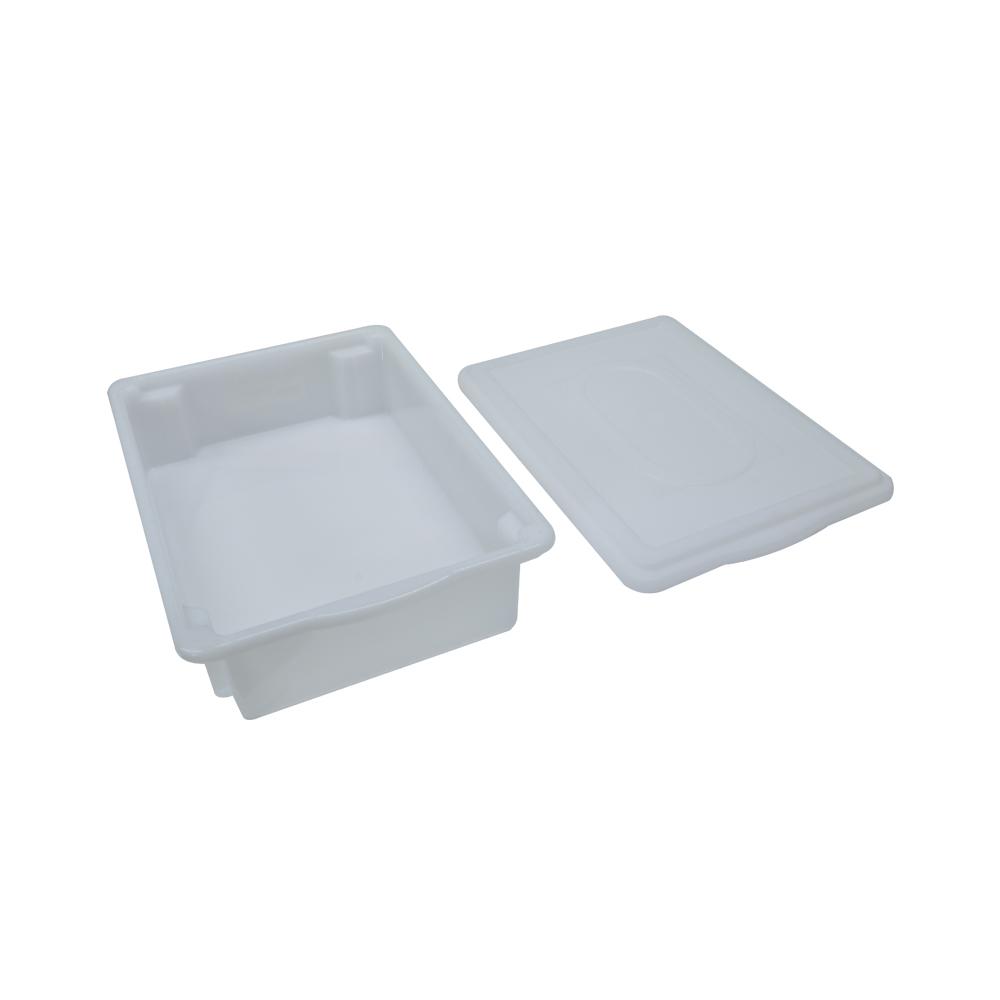 Caixa Plástica Branca Empilhável com Tampa 41X29X9 cm de 7 Litros S450