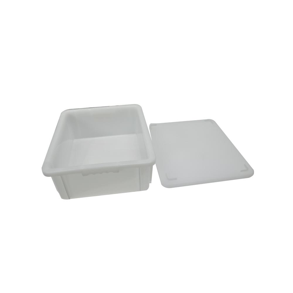 Caixa Plástica Branca Empilhável com Tampa 43X34X14 cm de 15,5 Litros S650  Supercron