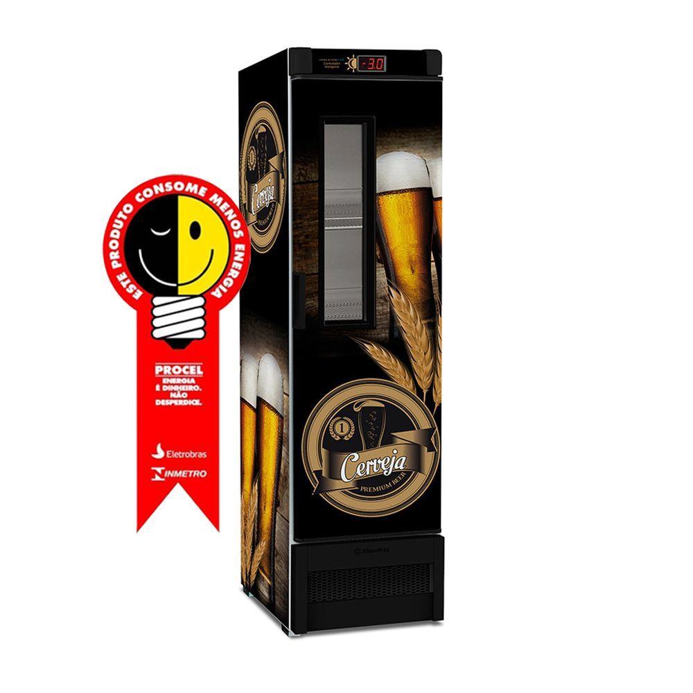 Cervejeira Metalfrio 324 Litros Preta 220V - VN28FE
