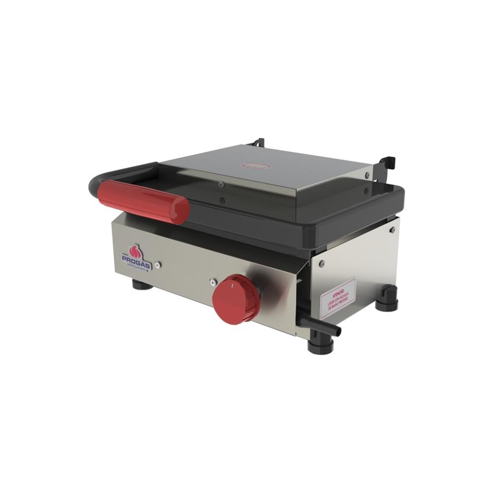 Chapa para Lanches á Gás 33x31 com Prensa Grill Mini Progás