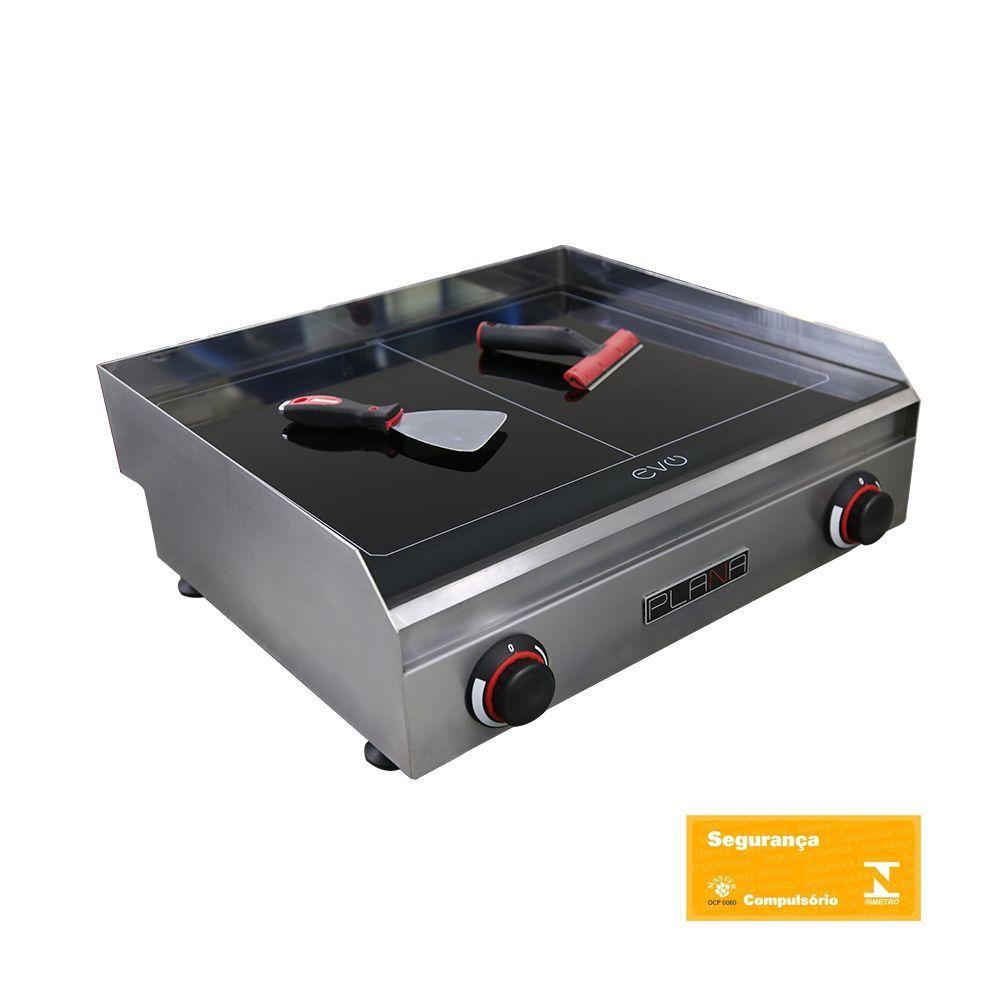 Chapa para Lanches em Vitrocerâmica 65X60 Plana Evo Pro