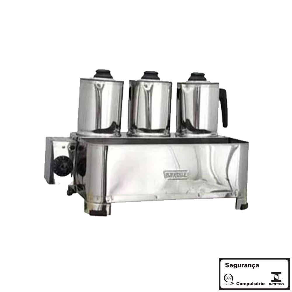 Esterilizador 3 Bules Aço Inox Luxo Eletrico 220v com Termostato Universal