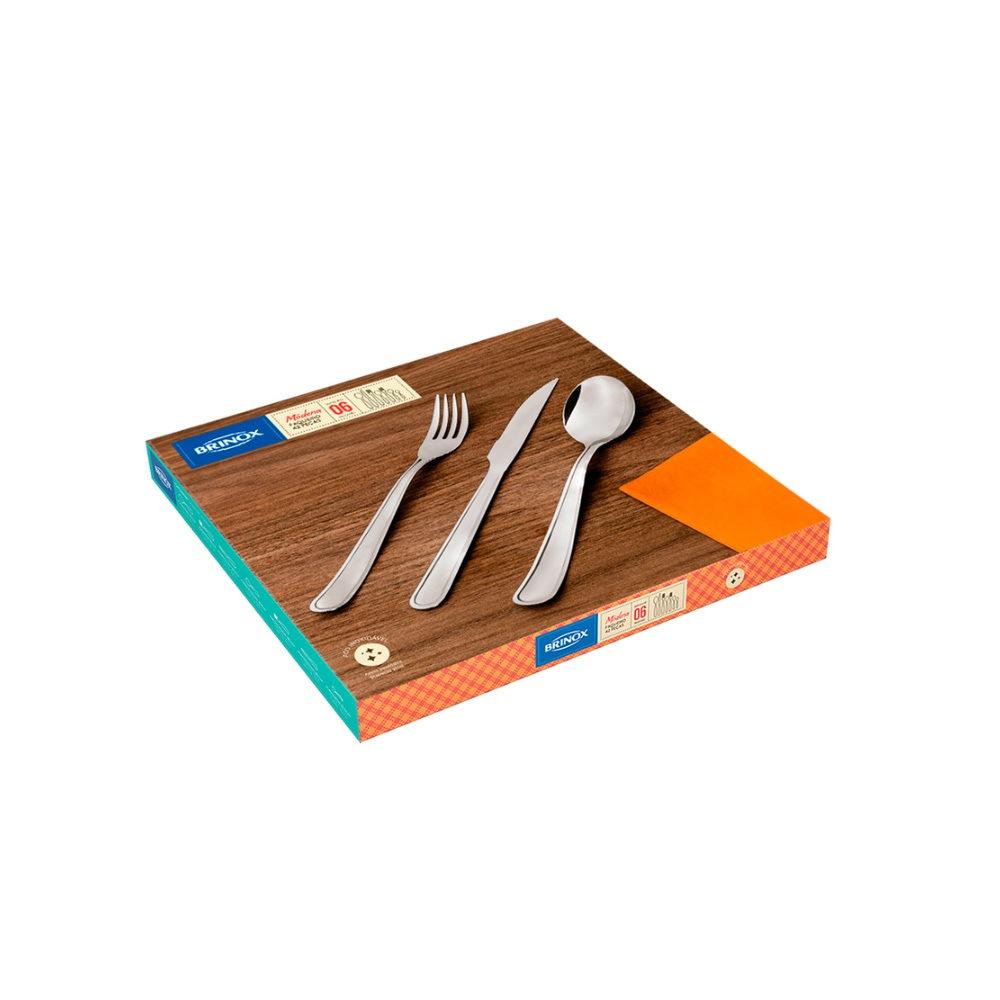 Faqueiro Inox 42 pçs Modena Brinox 5119/118