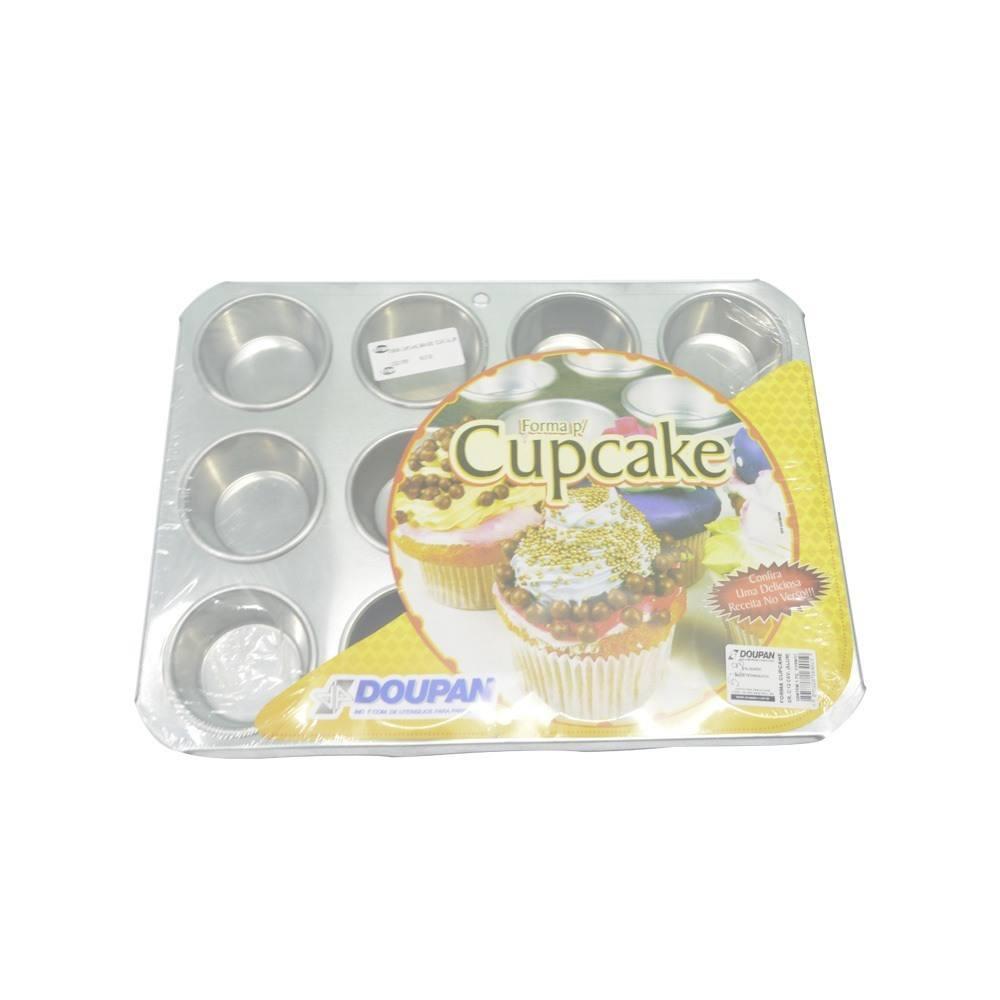 Forma de Cupcake Grande em Alumínio 12 Cavidades Doupan 1640