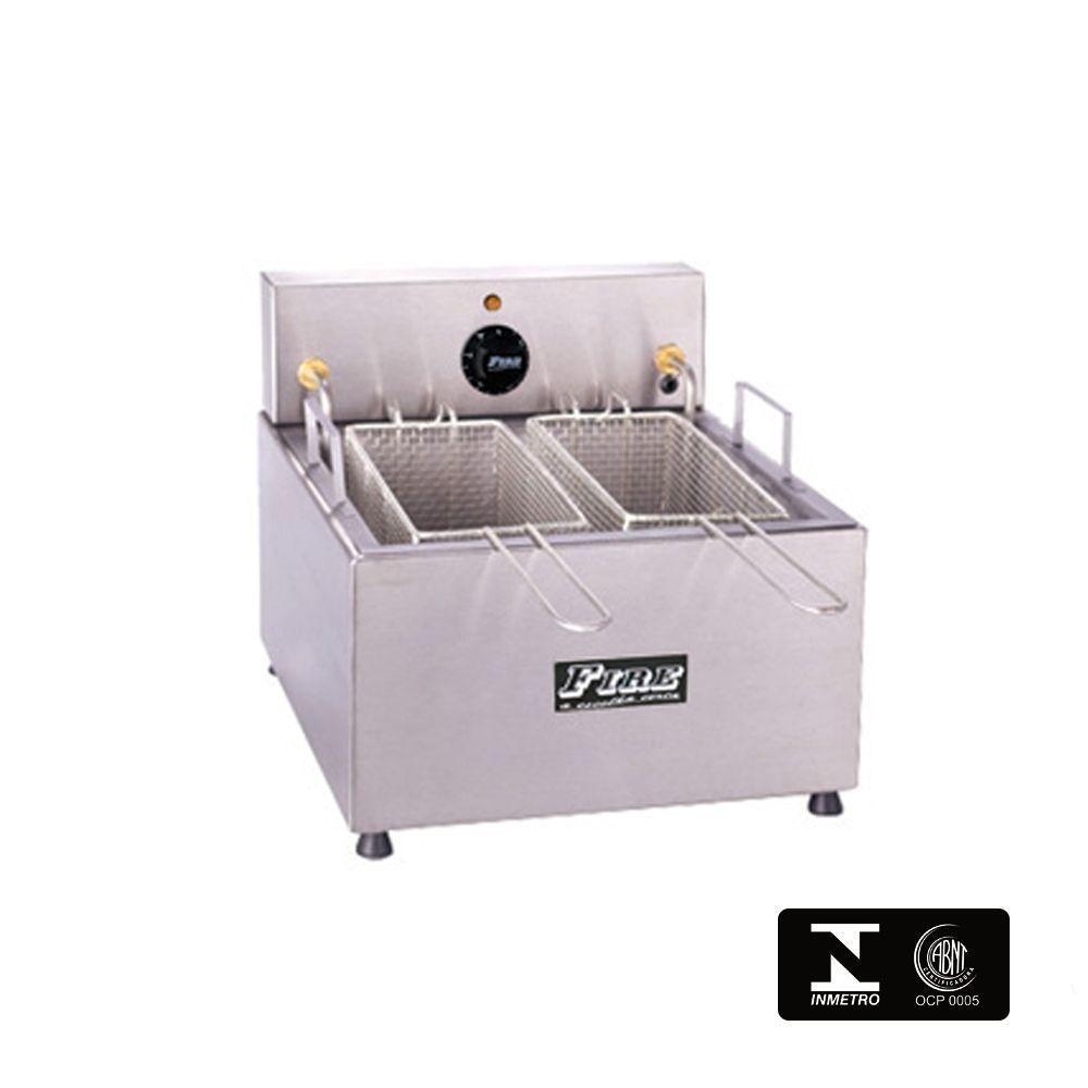Fritadeira Elétrica Industrial 2 Cubas 10 Litros 220V Fire FE2C