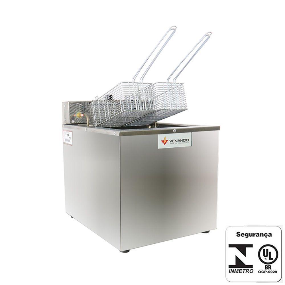 Fritadeira Elétrica Industrial Água e Óleo 18 Litros Venâncio