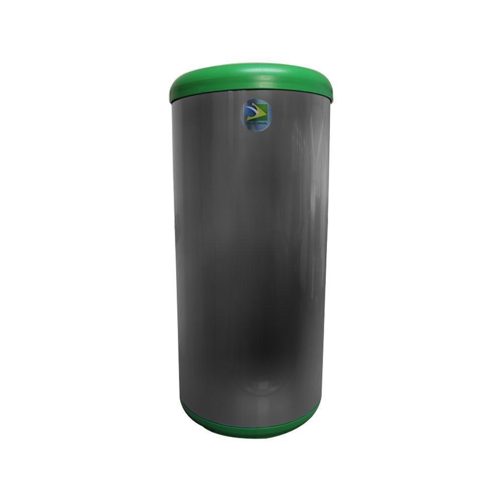 Lixeira Inox Seletiva 40 litros Verde Tramontina