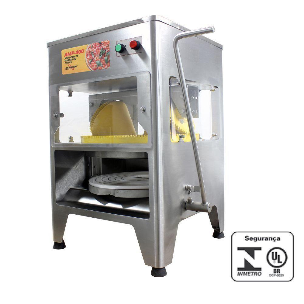 Máquina de Abrir Massa de Pizza Skymsen 220V