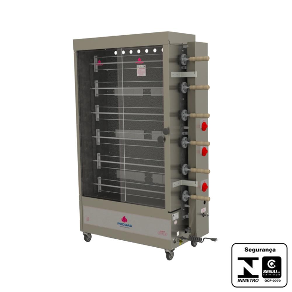 Máquina de Assar Frango à Gás 30 Unidades 220V Progas