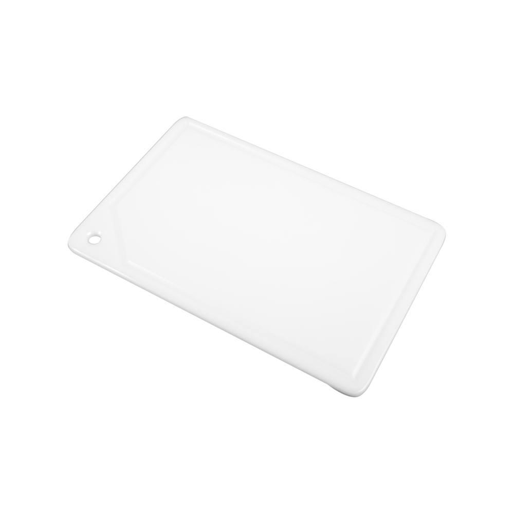 Placa de Corte com Canaleta em Polietileno Branca 1 Face 1X25X37 cm Pronyl 106